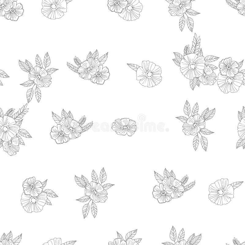Download 黑白花 向量例证. 插画 包括有 花束, 工厂, 设计, 经典, beauvoir, 洛可可式, 艺术, 投反对票 - 62531749