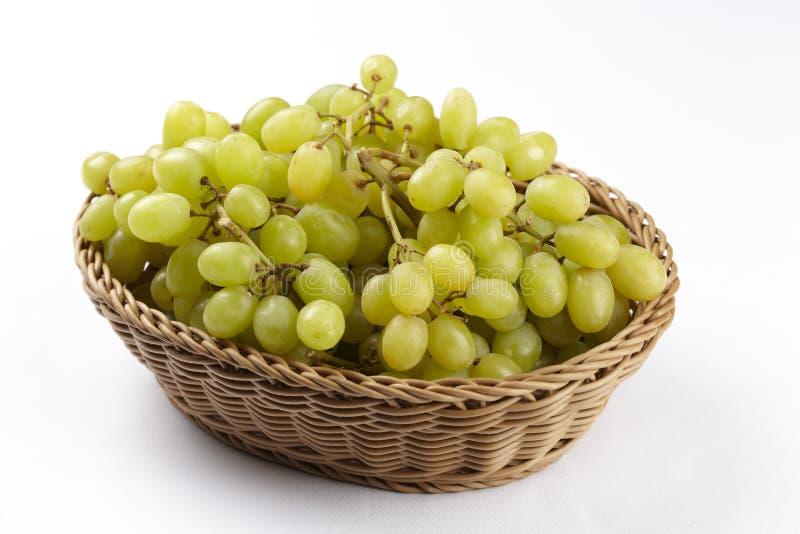 白葡萄篮子  免版税库存图片