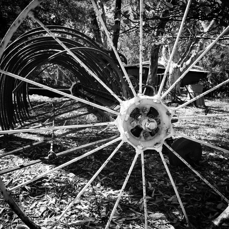 黑白轮子 免版税图库摄影
