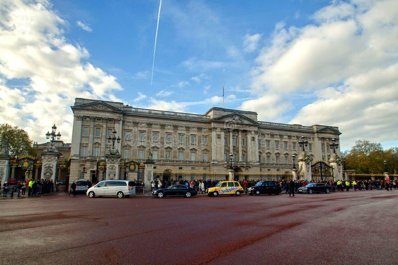 白金汉宫在伦敦,大英国 库存图片