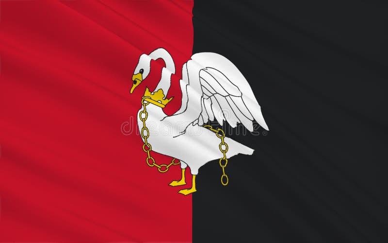 白金汉郡旗子是一个礼仪县,英国 向量例证