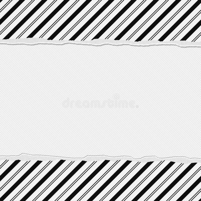 黑白镶边框架有被撕毁的背景 向量例证