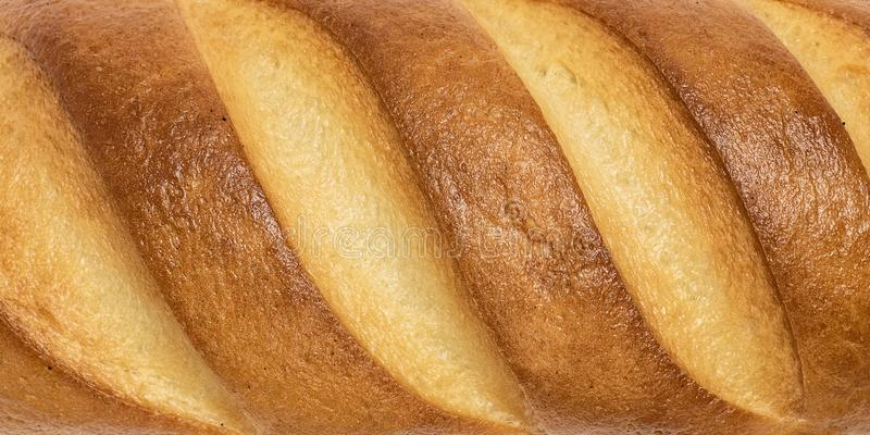 白面包纹理背景的外壳关闭 库存照片