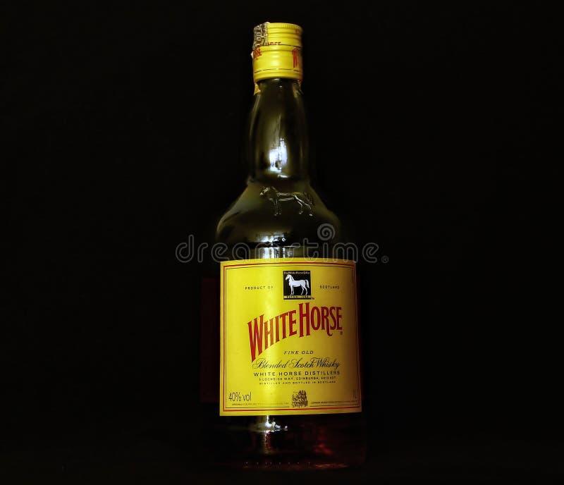 白马威士忌酒 库存图片