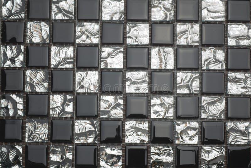 黑白马赛克 库存图片