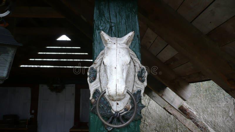 白马雕塑  库存图片