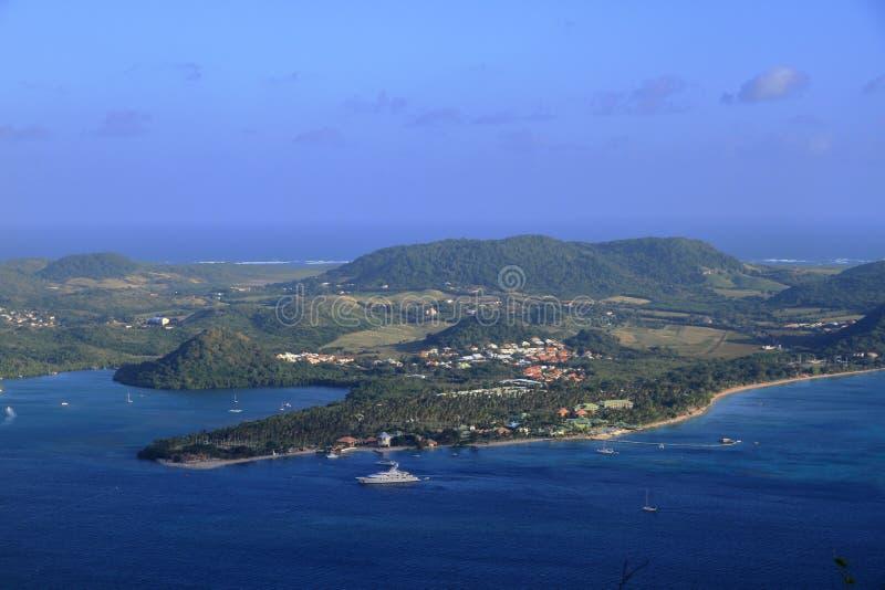 白鹅du马林- Sainte安妮-马提尼克岛- FWI -加勒比 库存图片