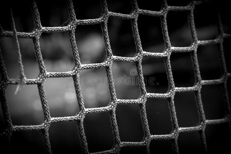 黑白绳索艺术 库存照片