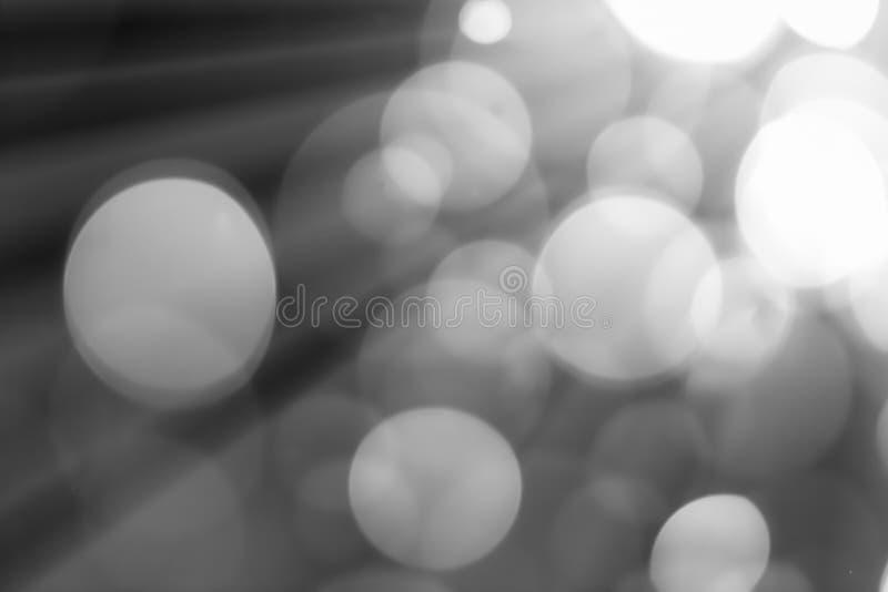 黑白Bokeh的背景 图库摄影