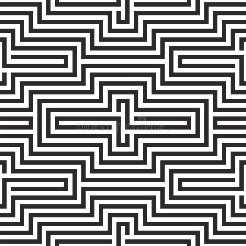 黑白Z形图案 皇族释放例证