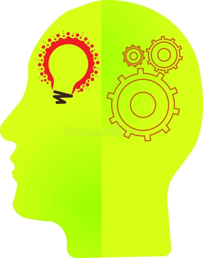 百万个轻的灯商标例证艺术和头脑适应有被隔绝的背景 向量例证