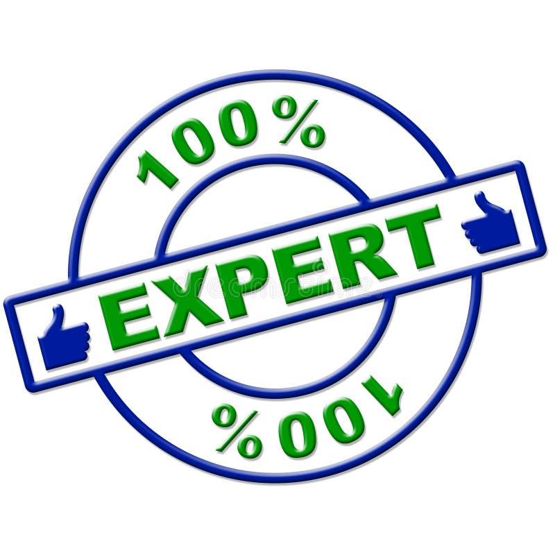百分之一百专家完全地意味优秀和技能 向量例证