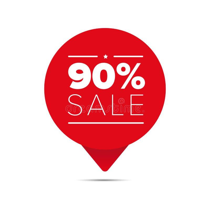 百分之九十个销售提议标记 皇族释放例证