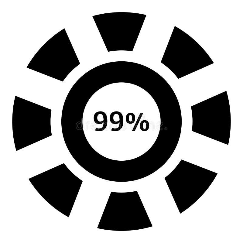 百分之九十九下载象,简单的样式 向量例证