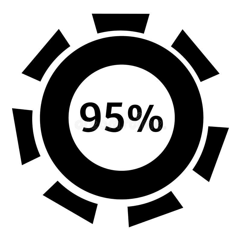 百分之九十五个下载象,简单的样式 库存例证