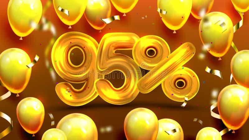 百分之九十五或95个好处提议传染媒介 库存例证
