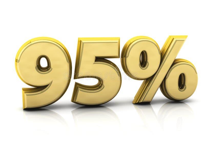 百分之九十五金子 向量例证