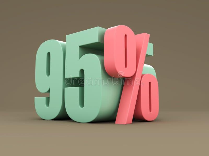 百分之九十五-折扣 向量例证