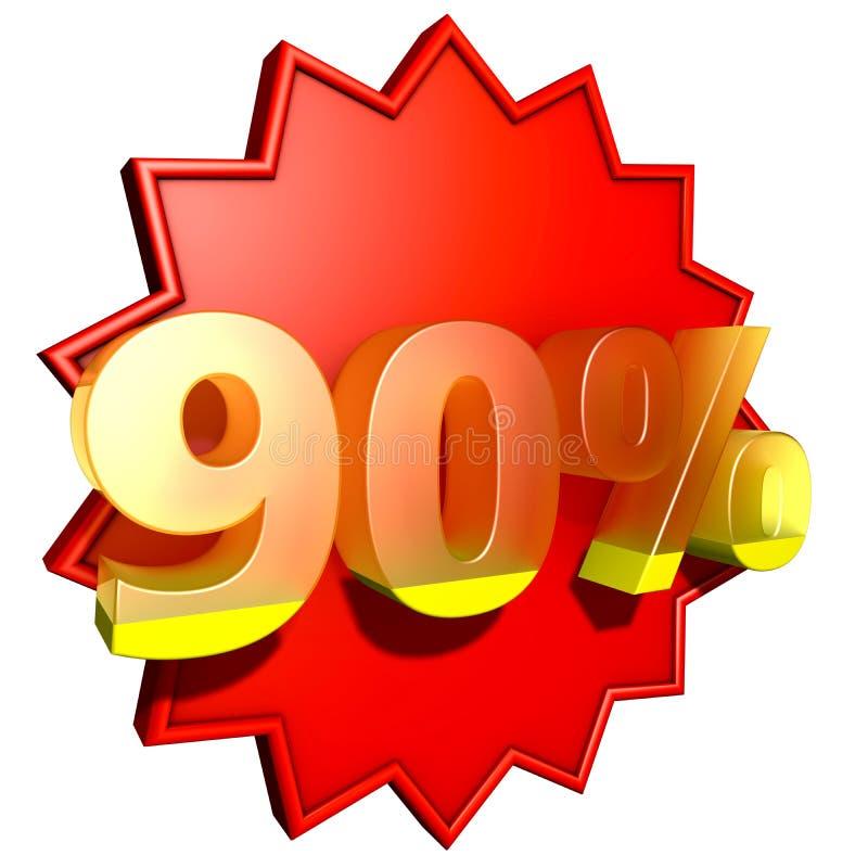 百分之九十 库存例证