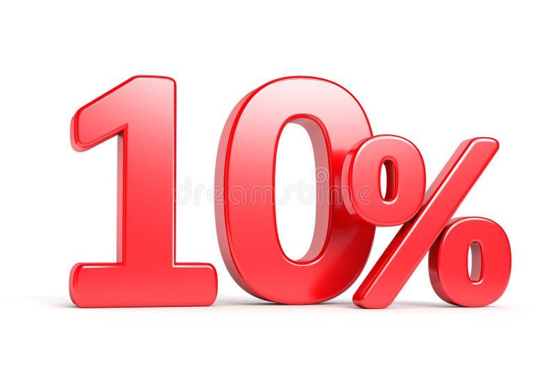百分之十折扣概念 向量例证