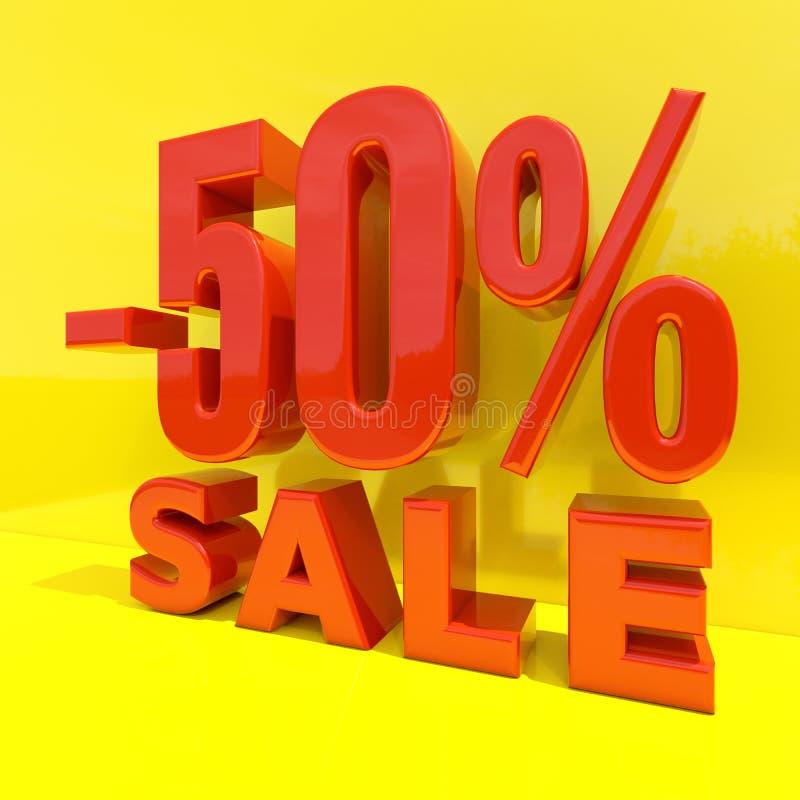 百分之折扣标志,由50决定的销售 库存例证