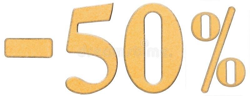 百分之 贴现 减50百分之五十,被隔绝的数字 库存照片