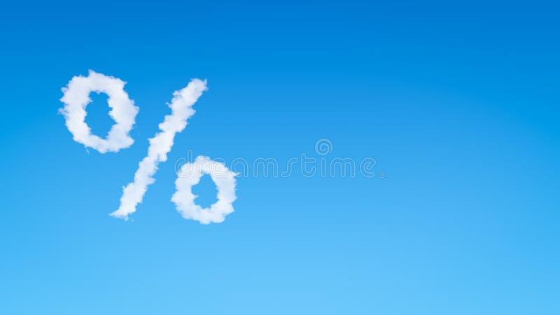 百分号标志形状的云彩 库存例证
