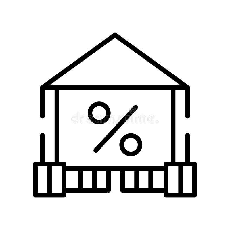 百分比在白色背景、百分率符号、线标志或在概述样式的线性元素设计隔绝的象传染媒介 皇族释放例证