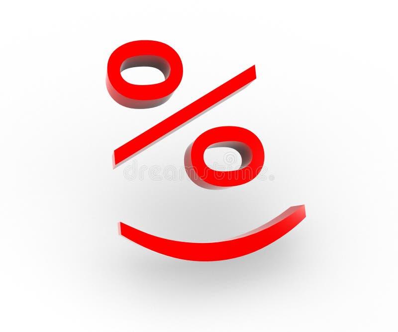 百分比微笑 库存照片