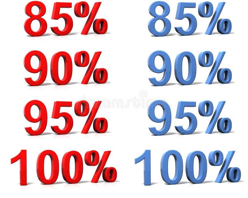 百分率符号 向量例证