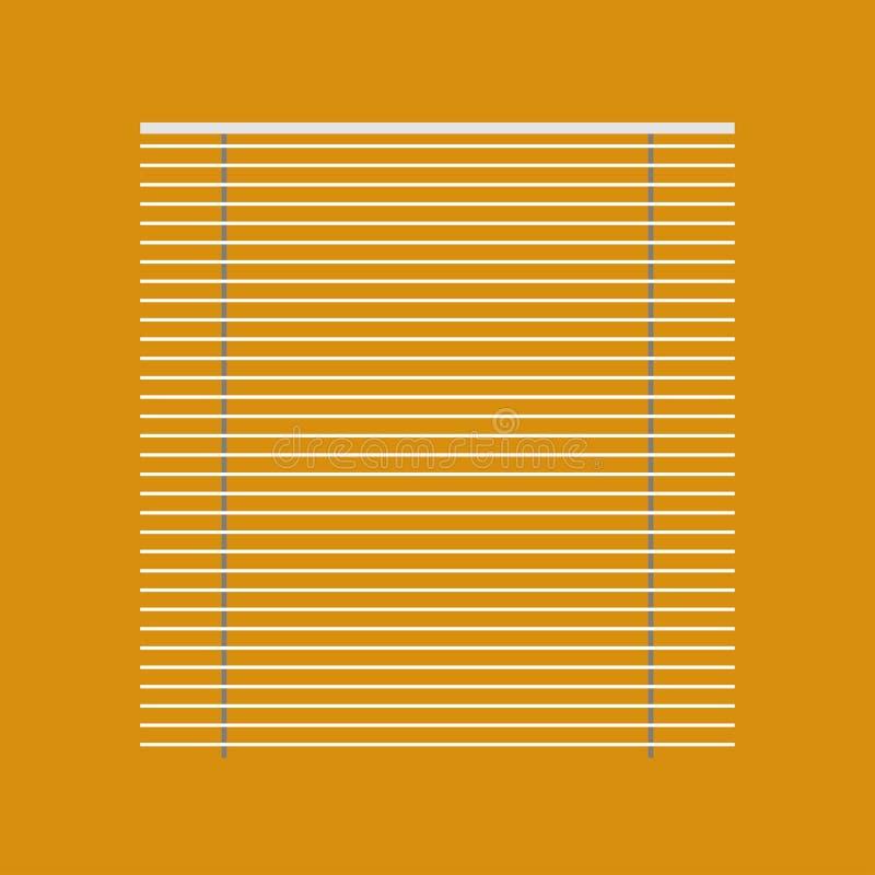 百叶窗盲目的白色窗帘传染媒介象 天窗家轻的快门控制 内部室框架正面图 皇族释放例证
