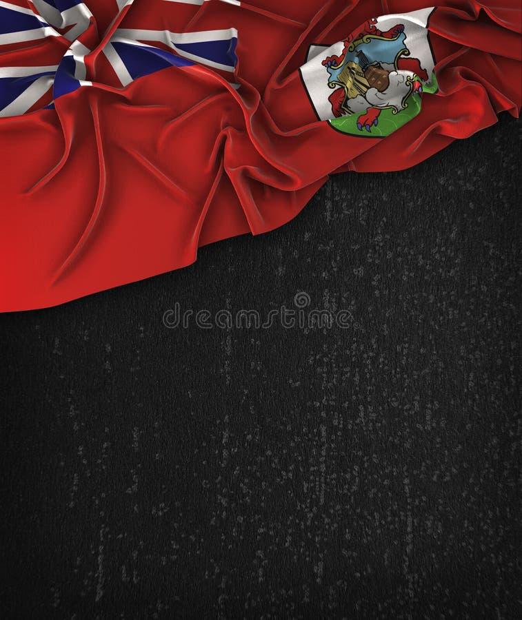 百慕大在一个难看的东西黑色黑板的旗子葡萄酒有空间的为 皇族释放例证