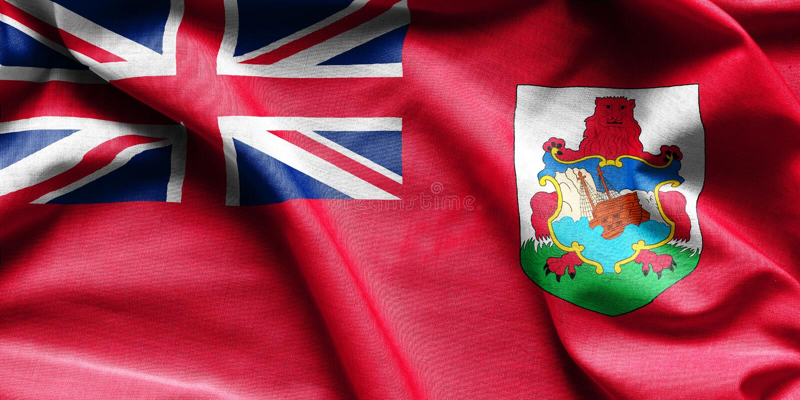 百慕大挥动的旗子 库存照片