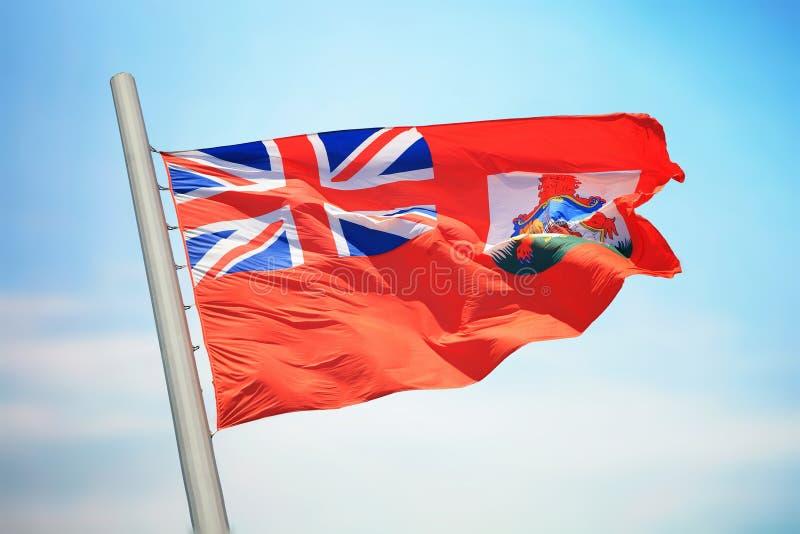 百慕大旗子 库存照片