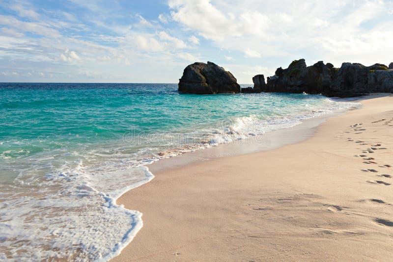 百慕大沃里克龙湾海滩 库存图片