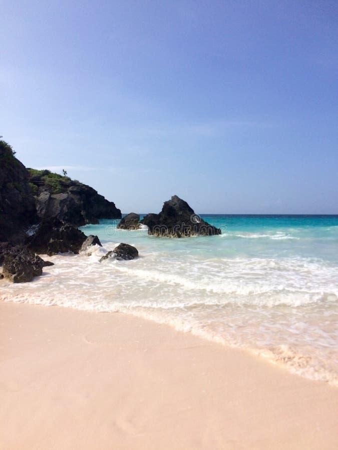 百慕大海滩 免版税库存照片