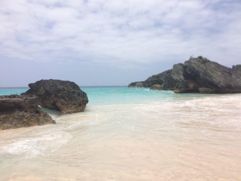 百慕大海滩 免版税库存图片