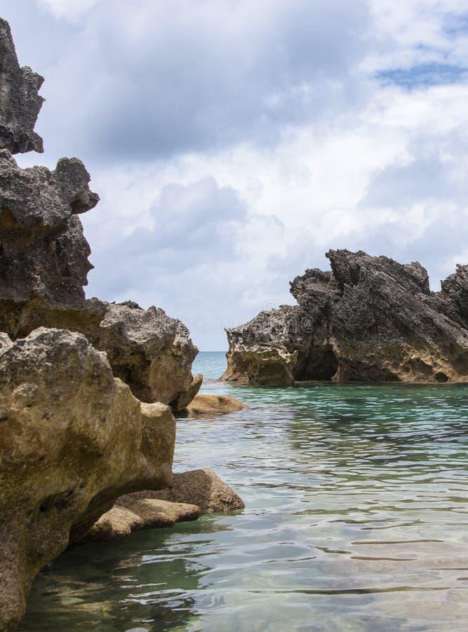 百慕大海滩。 库存照片