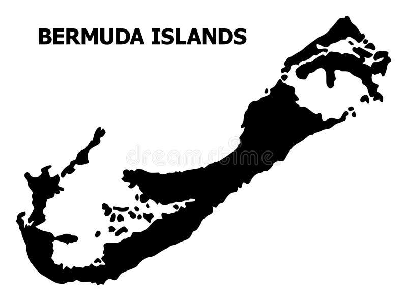 百慕大群岛传染媒介平的地图有说明的 库存例证