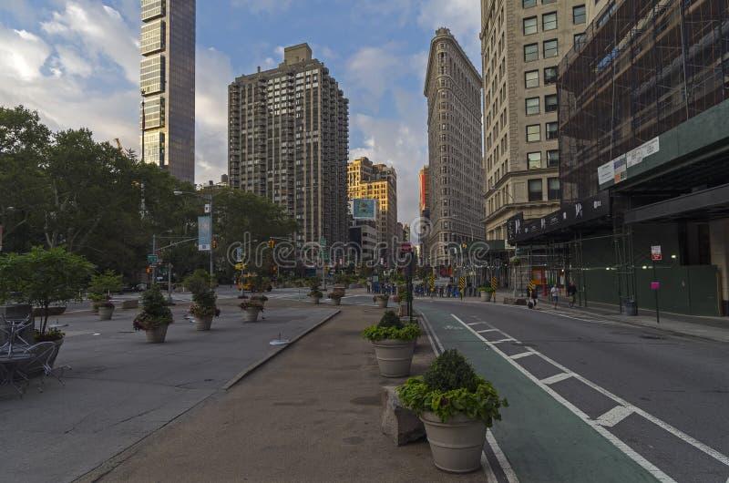 百老汇和第五大道的交叉点 库存图片