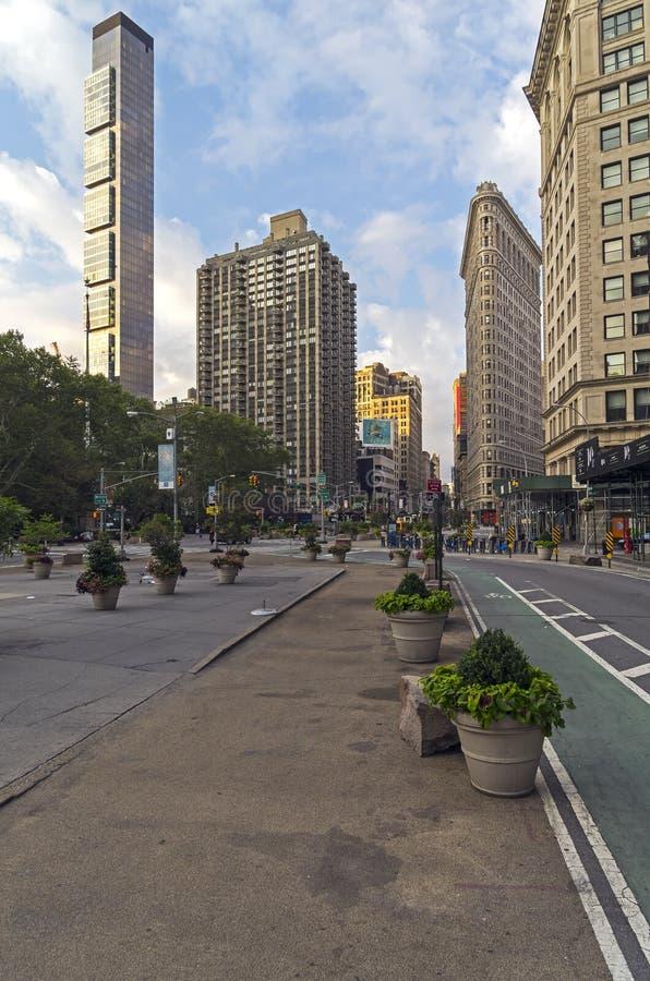百老汇和第五大道的交叉点 库存照片
