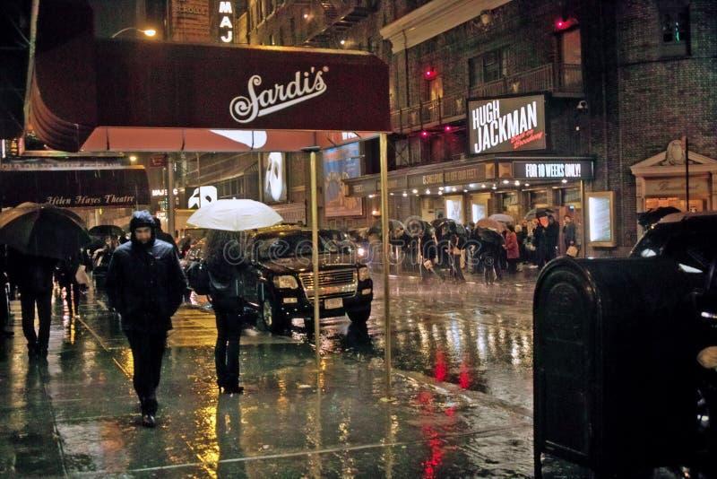 百老汇,纽约 2011年11月23日 免版税库存照片