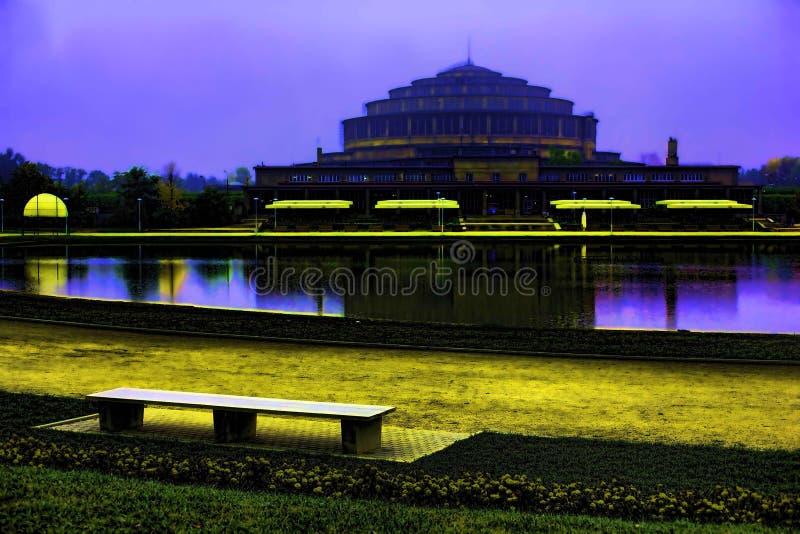 百年大厅,弗罗茨瓦夫,波兰 库存图片