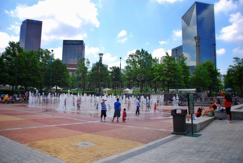 百年奥林匹克公园在亚特兰大 库存图片