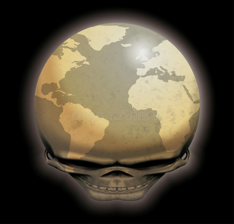 死的世界 向量例证