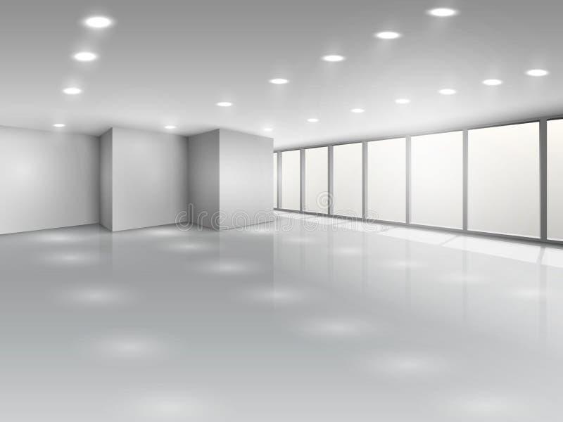 轻的会议室或办公室露天场所 皇族释放例证