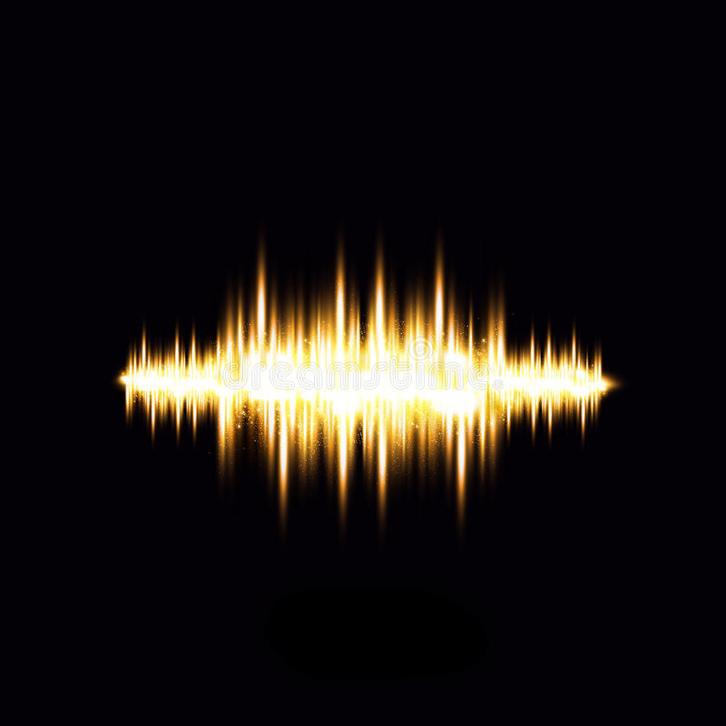轻的信号波形 向量例证