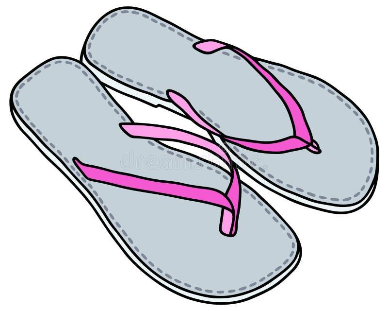 轻的凉鞋 皇族释放例证
