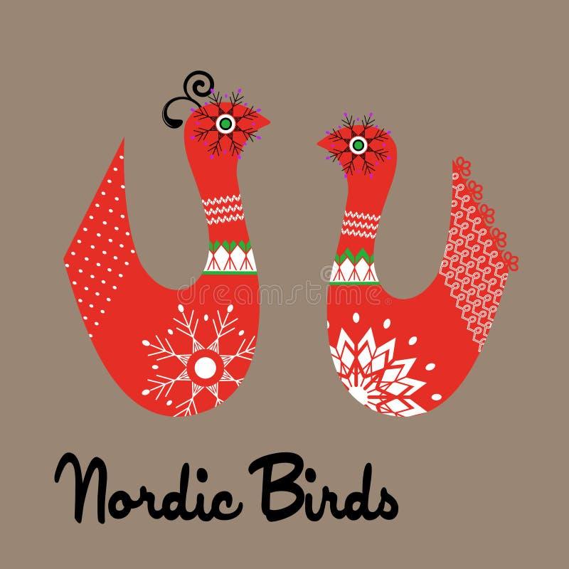 质朴的北欧鸟 皇族释放例证