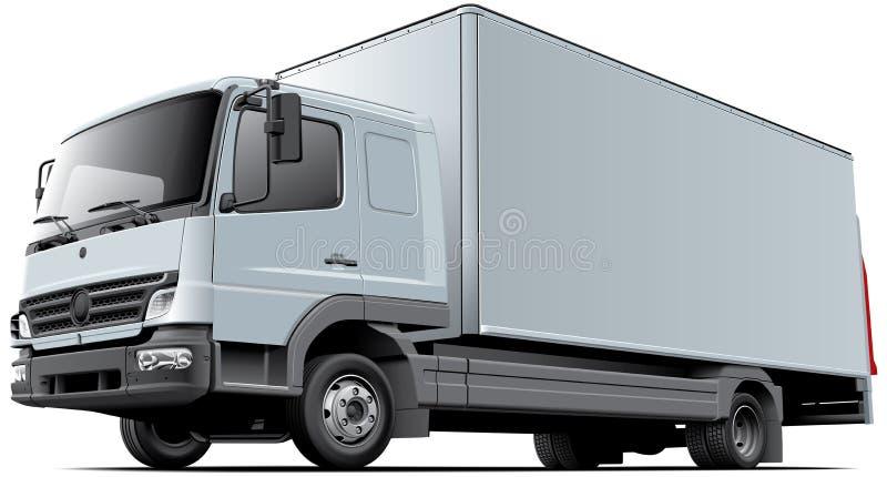 轻的商业卡车 皇族释放例证